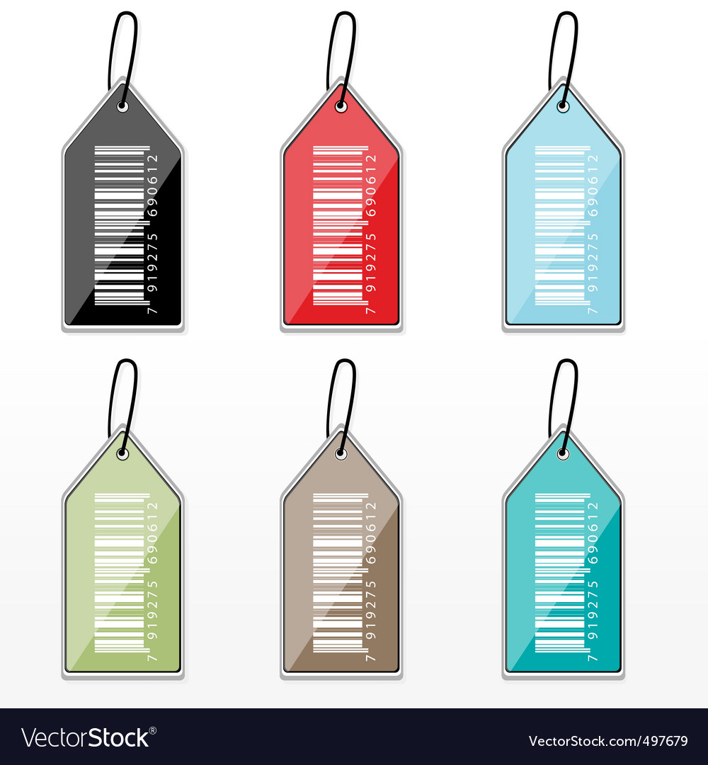 Barcode tags vector | Price: 1 Credit (USD $1)