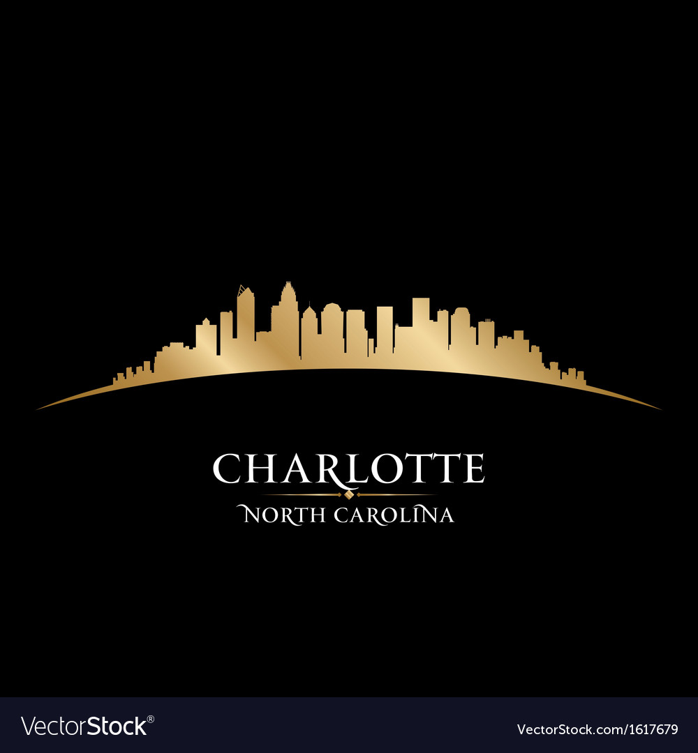 Charlotte north carolina city skyline silhouette vector | Price: 1 Credit (USD $1)