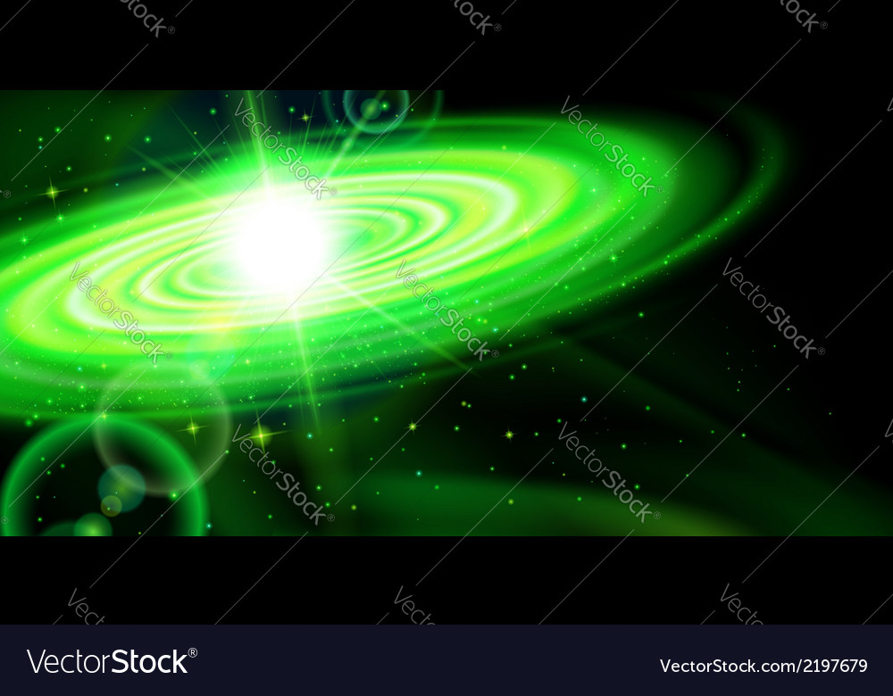 Green galaxy vector | Price: 1 Credit (USD $1)