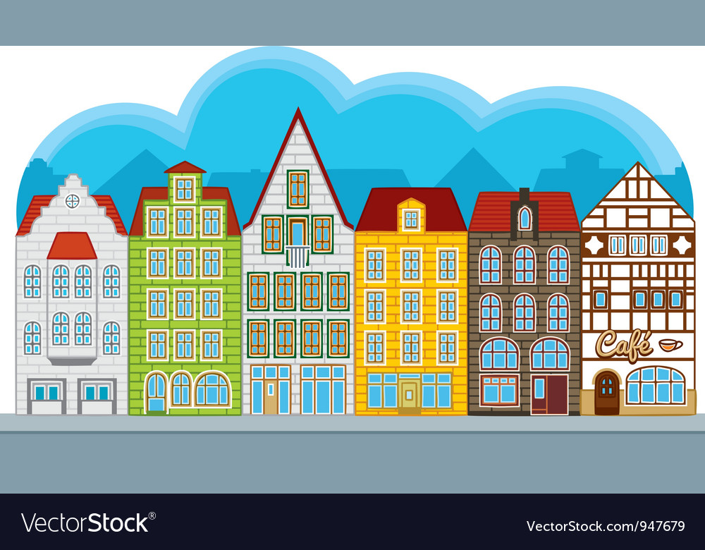 Group of small houses vector | Price: 1 Credit (USD $1)