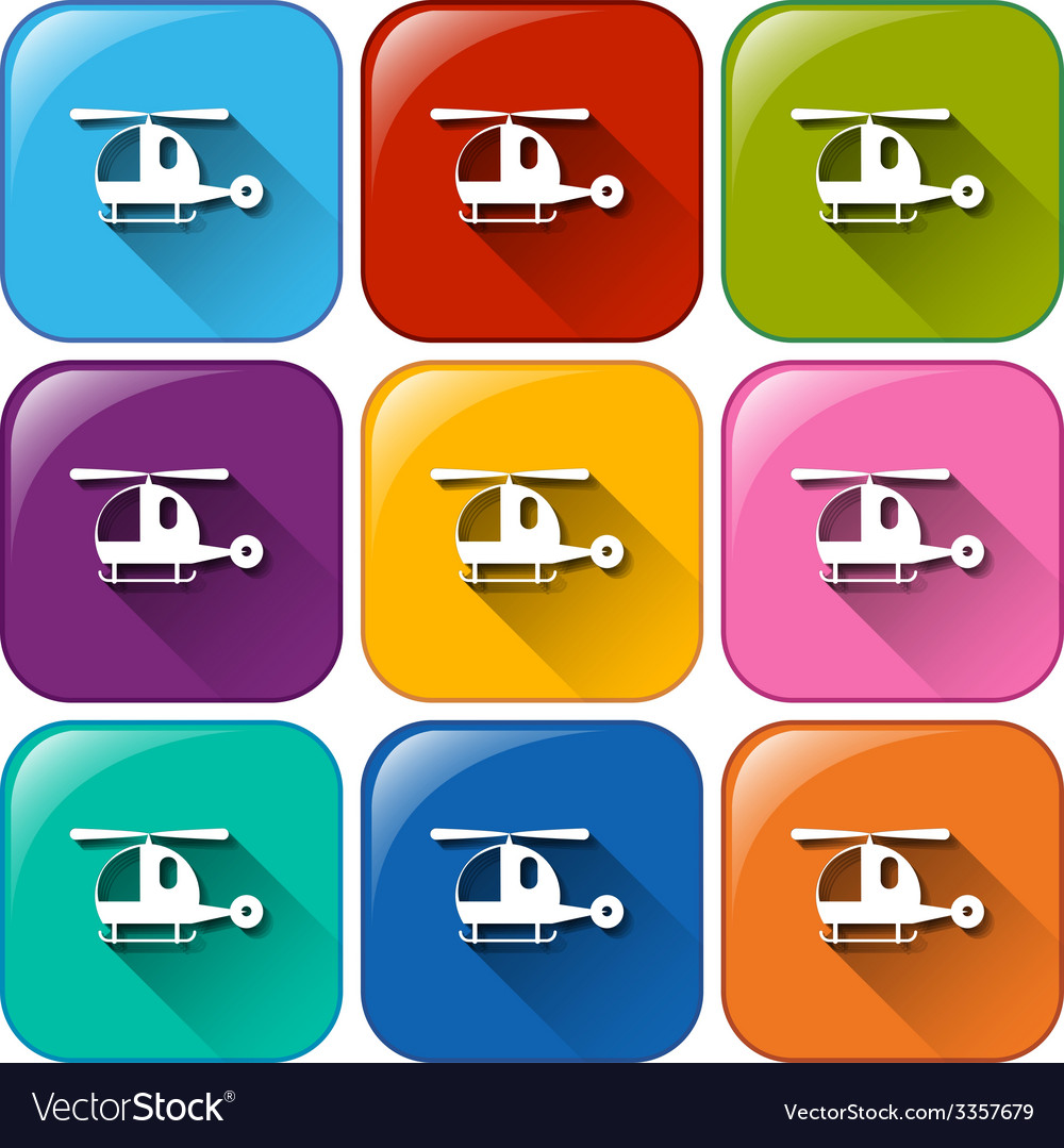 Helicopter buttons vector | Price: 1 Credit (USD $1)