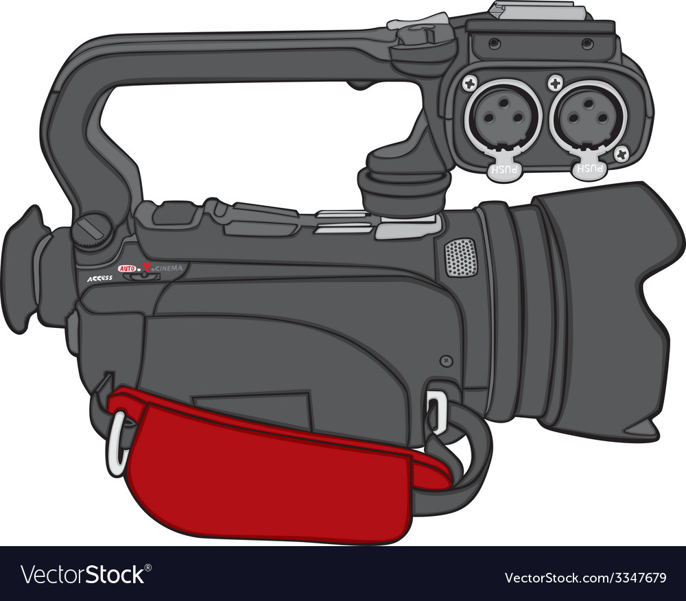 Isolated video camera vector | Price: 1 Credit (USD $1)
