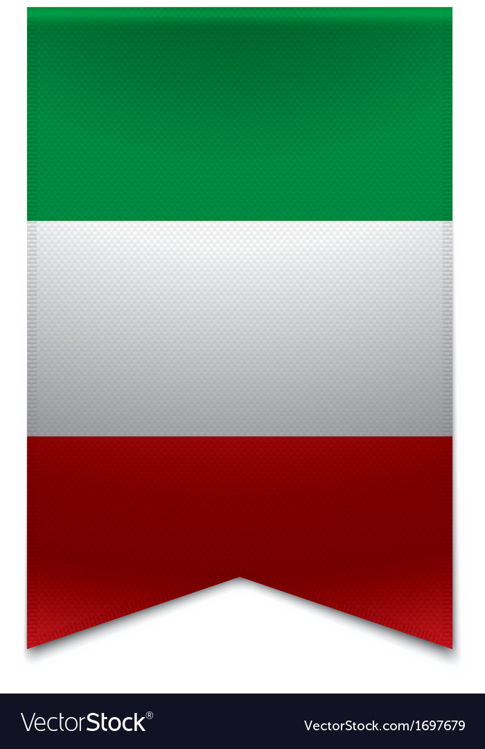 Ribbon banner - italian flag vector | Price: 1 Credit (USD $1)