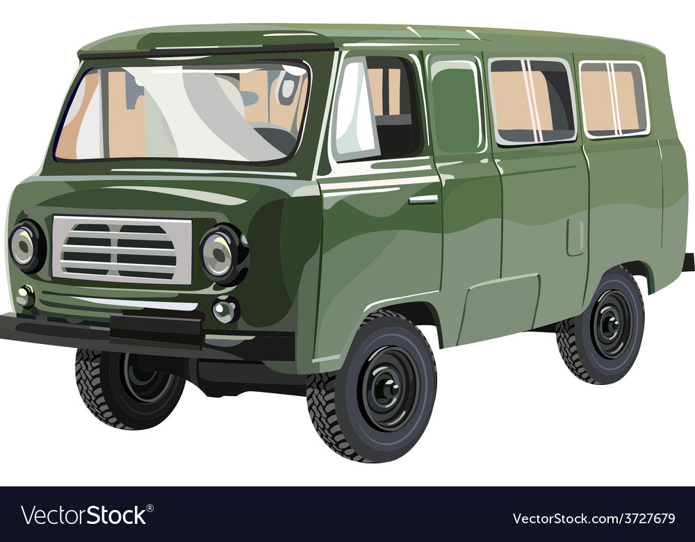 Soviet retro minivan uaz vector | Price: 3 Credit (USD $3)