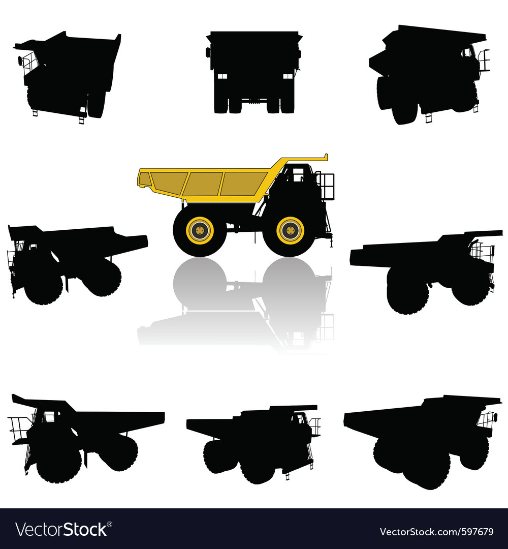 Truck silhouette vector | Price: 1 Credit (USD $1)