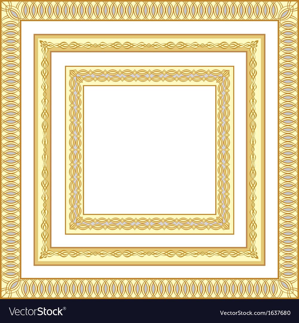 3 golden frames vector | Price: 1 Credit (USD $1)