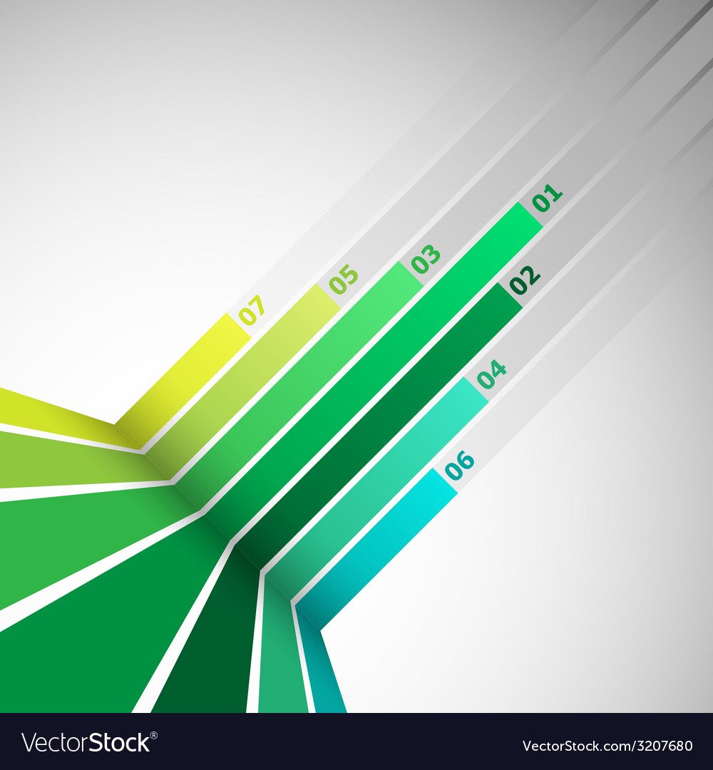 Abstract design element with green lines vector | Price: 1 Credit (USD $1)