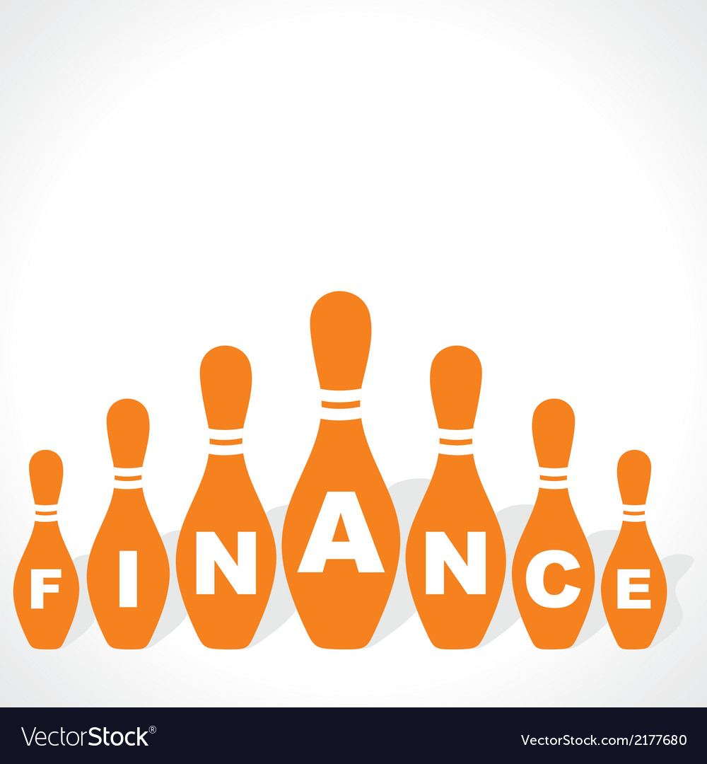 Bowling pins make finance word vector | Price: 1 Credit (USD $1)