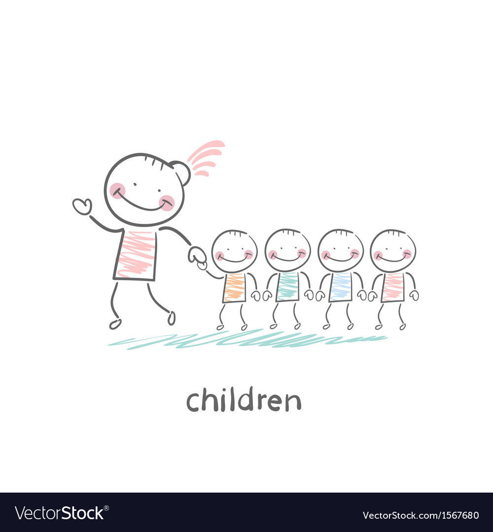 Children and adults vector | Price: 1 Credit (USD $1)