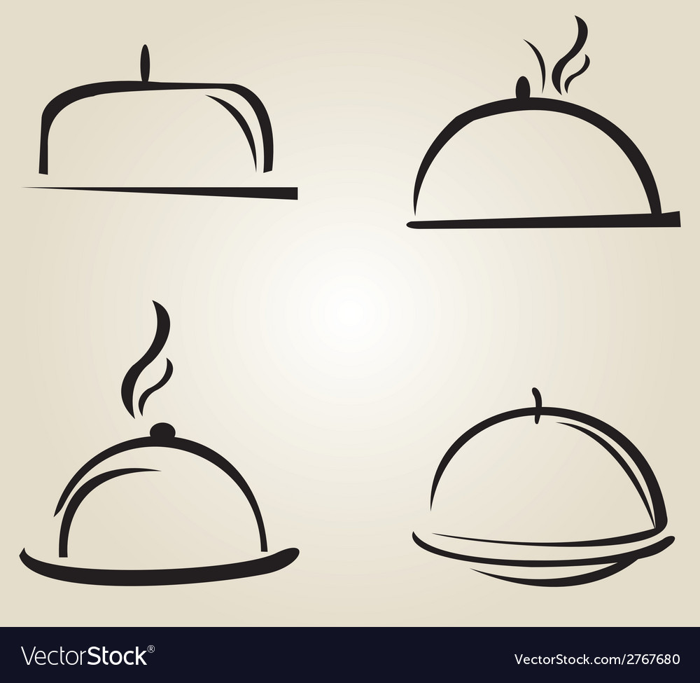 Food serving tray platter vector | Price: 1 Credit (USD $1)
