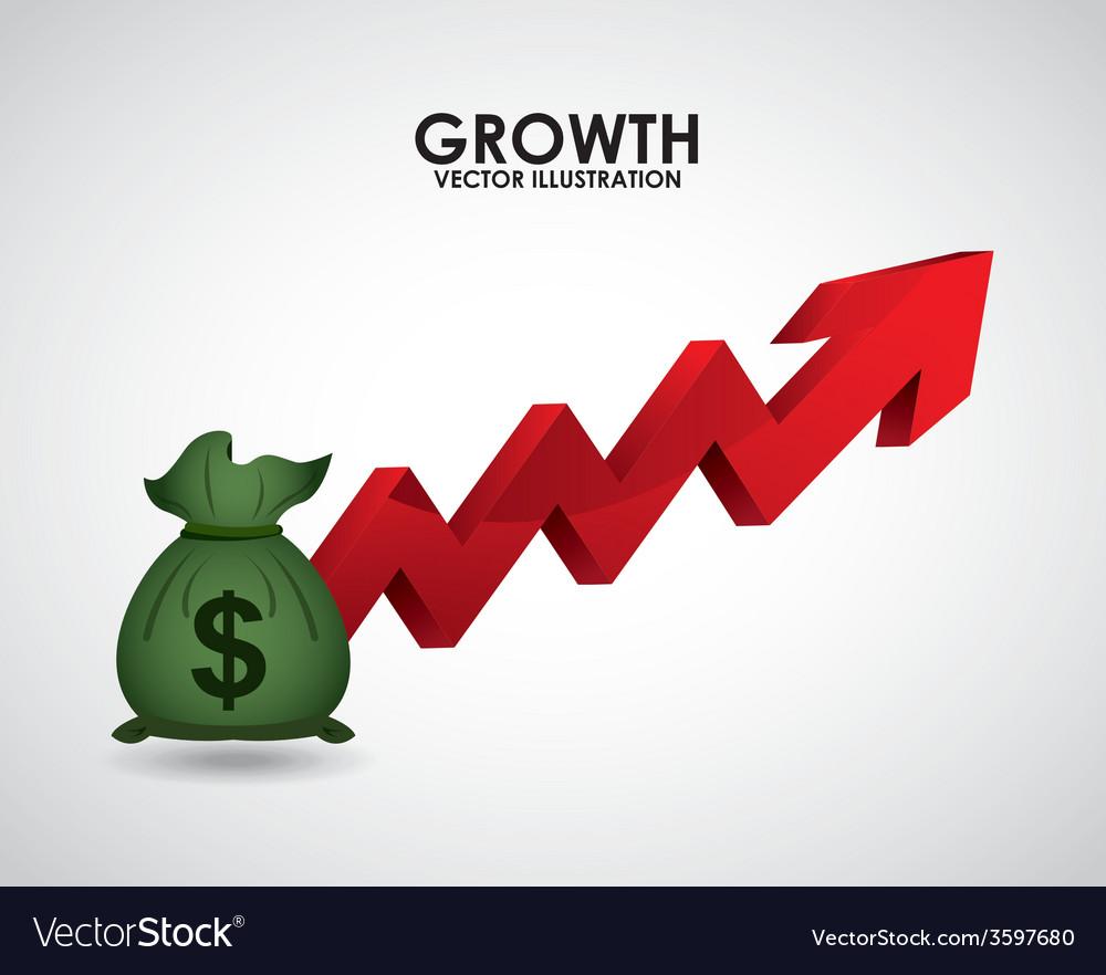 Growth money vector | Price: 1 Credit (USD $1)
