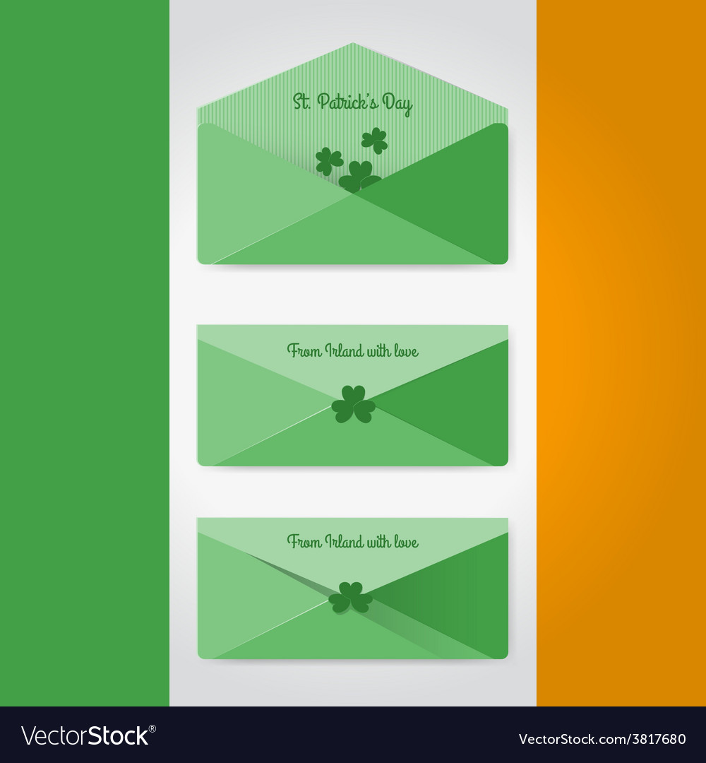 Irish envelopes in material style vector | Price: 1 Credit (USD $1)