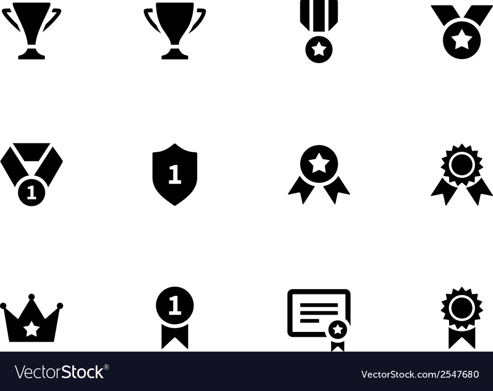 Medals and cup icons vector | Price: 1 Credit (USD $1)