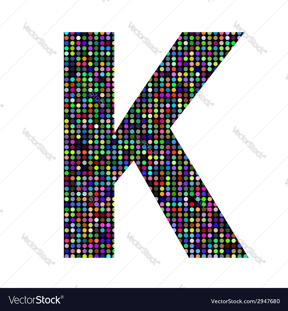 Multicolor letter k vector | Price: 1 Credit (USD $1)
