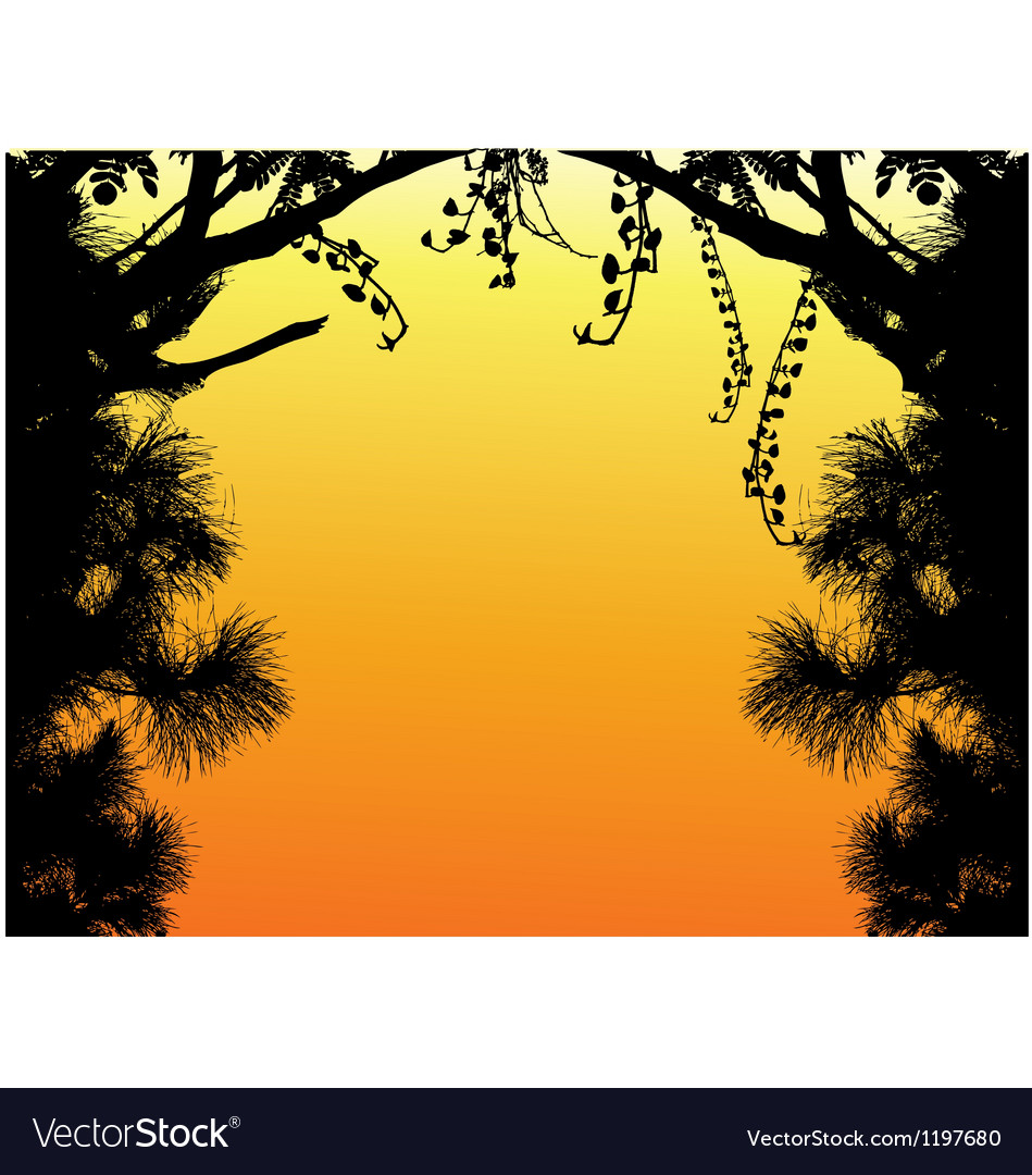 Nature tree silhouette vector | Price: 1 Credit (USD $1)