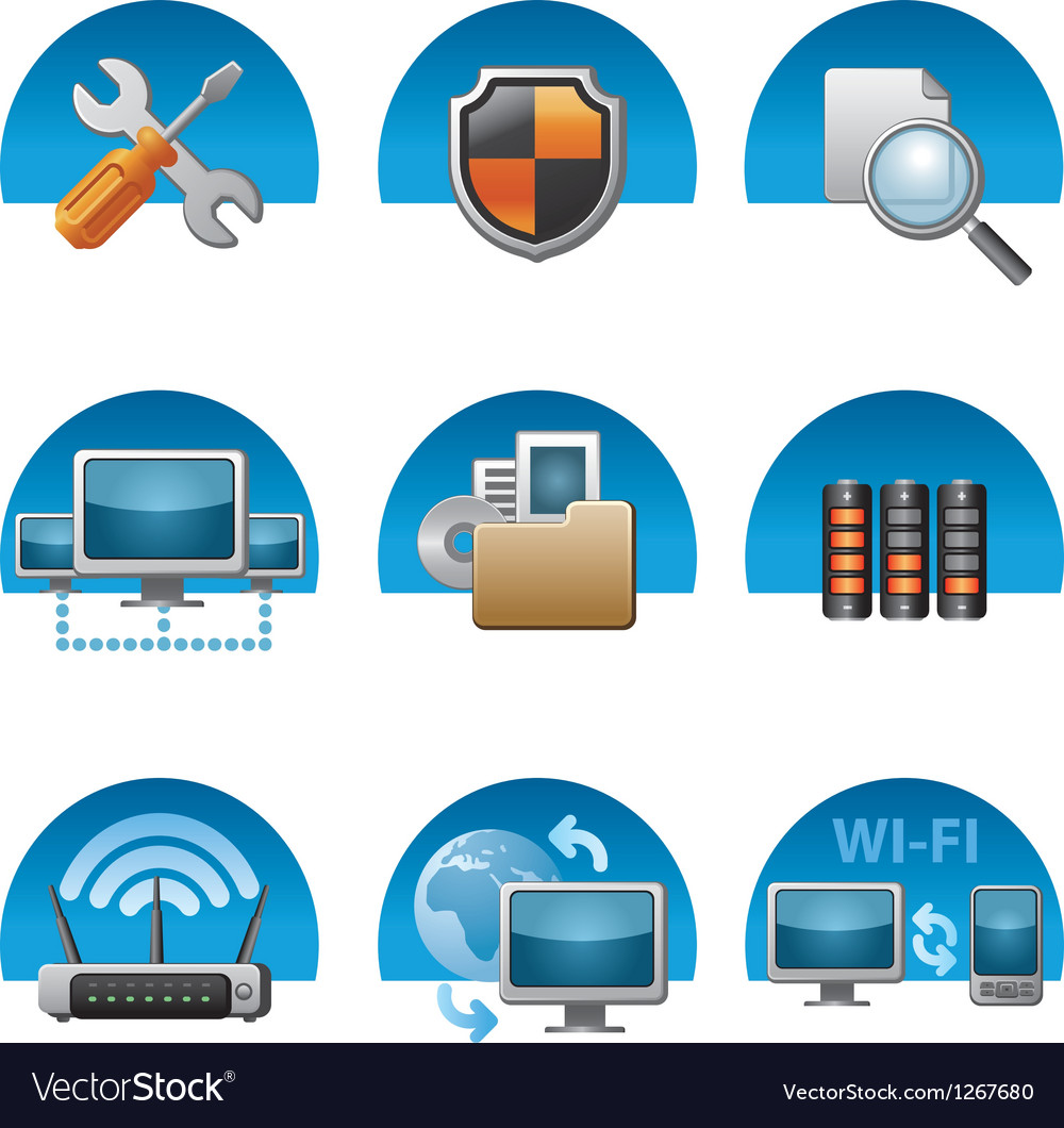 Network icons vector | Price: 3 Credit (USD $3)