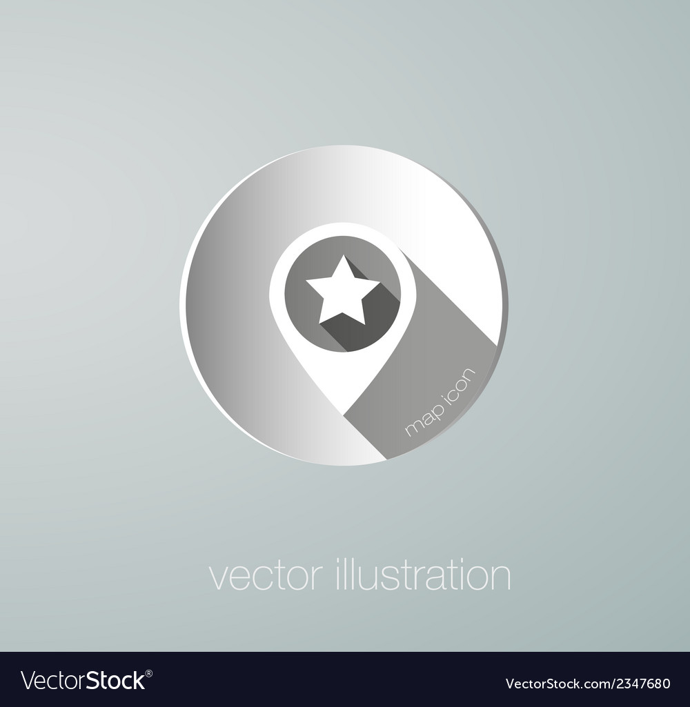 Paper map mark icon vector | Price: 1 Credit (USD $1)