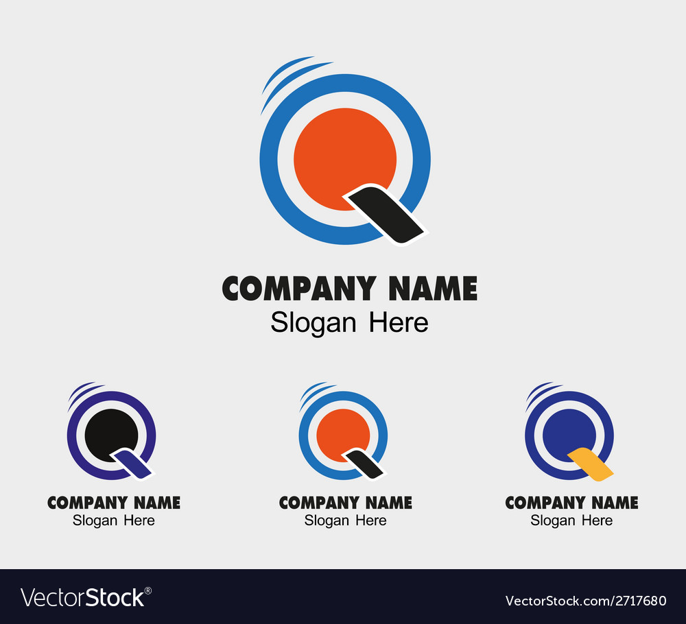 Q logo template - symbol letter q vector | Price: 1 Credit (USD $1)