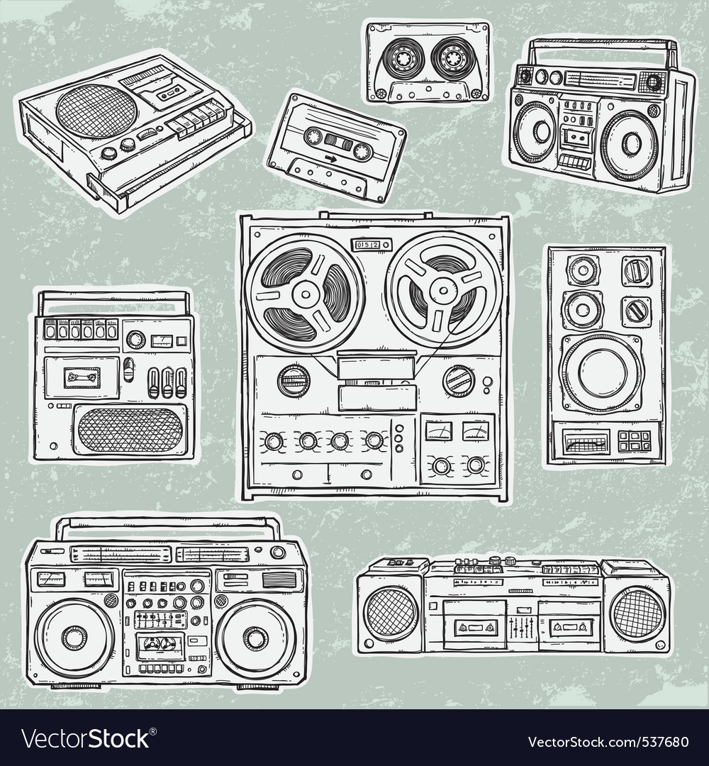 Retro musical equipment vector | Price: 1 Credit (USD $1)