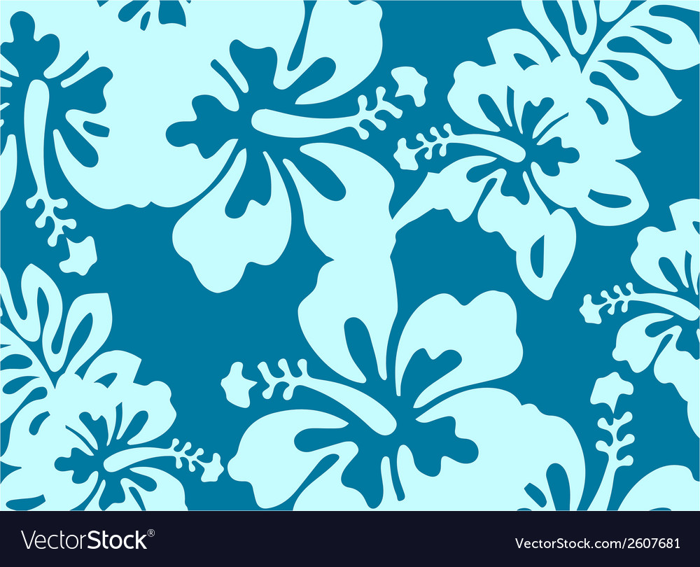 Blue decorative floral pattern vector | Price: 1 Credit (USD $1)