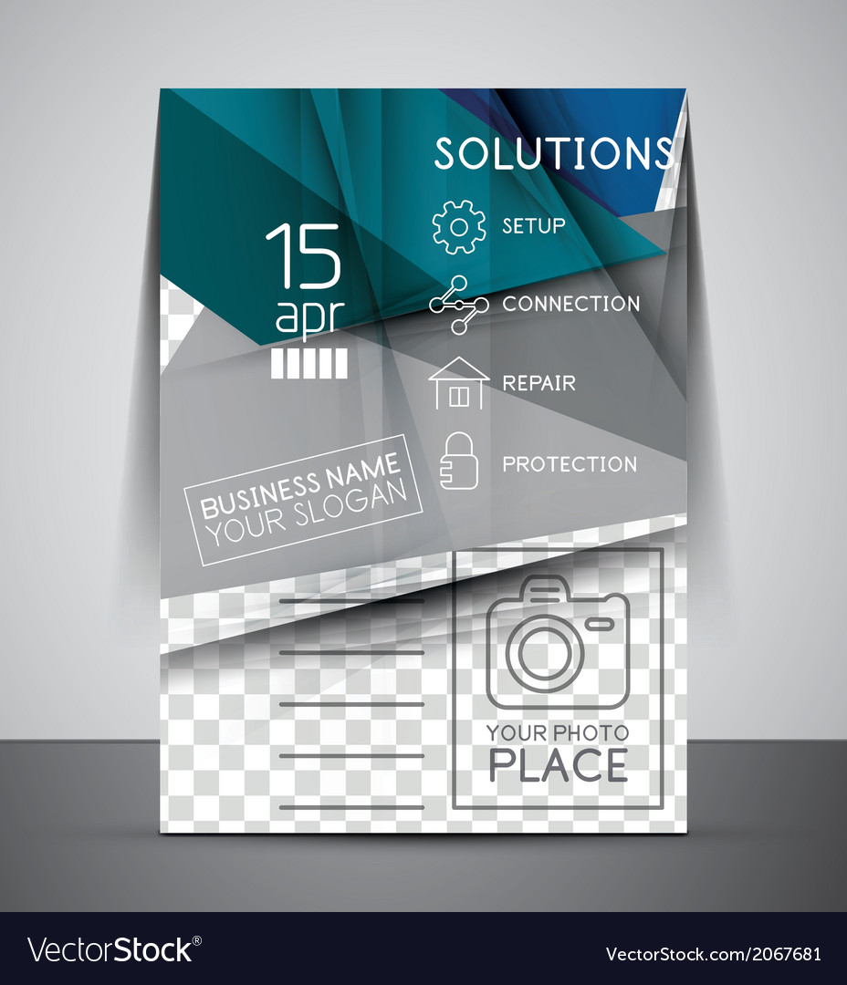 Cmyk business corporate flyer template vector   Price: 1 Credit (USD $1)