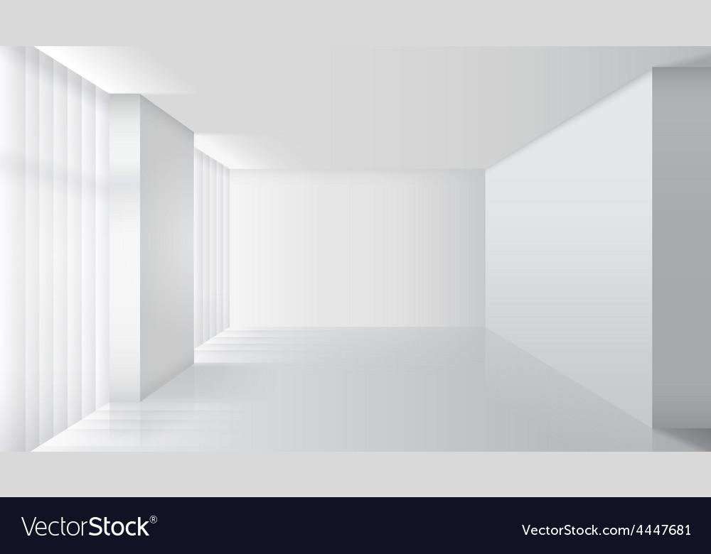 Empty white interior vector | Price: 1 Credit (USD $1)