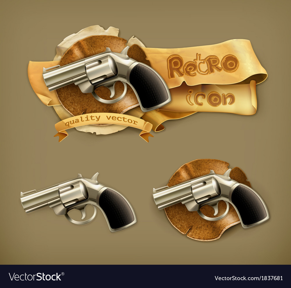 Gun retro icon vector | Price: 1 Credit (USD $1)