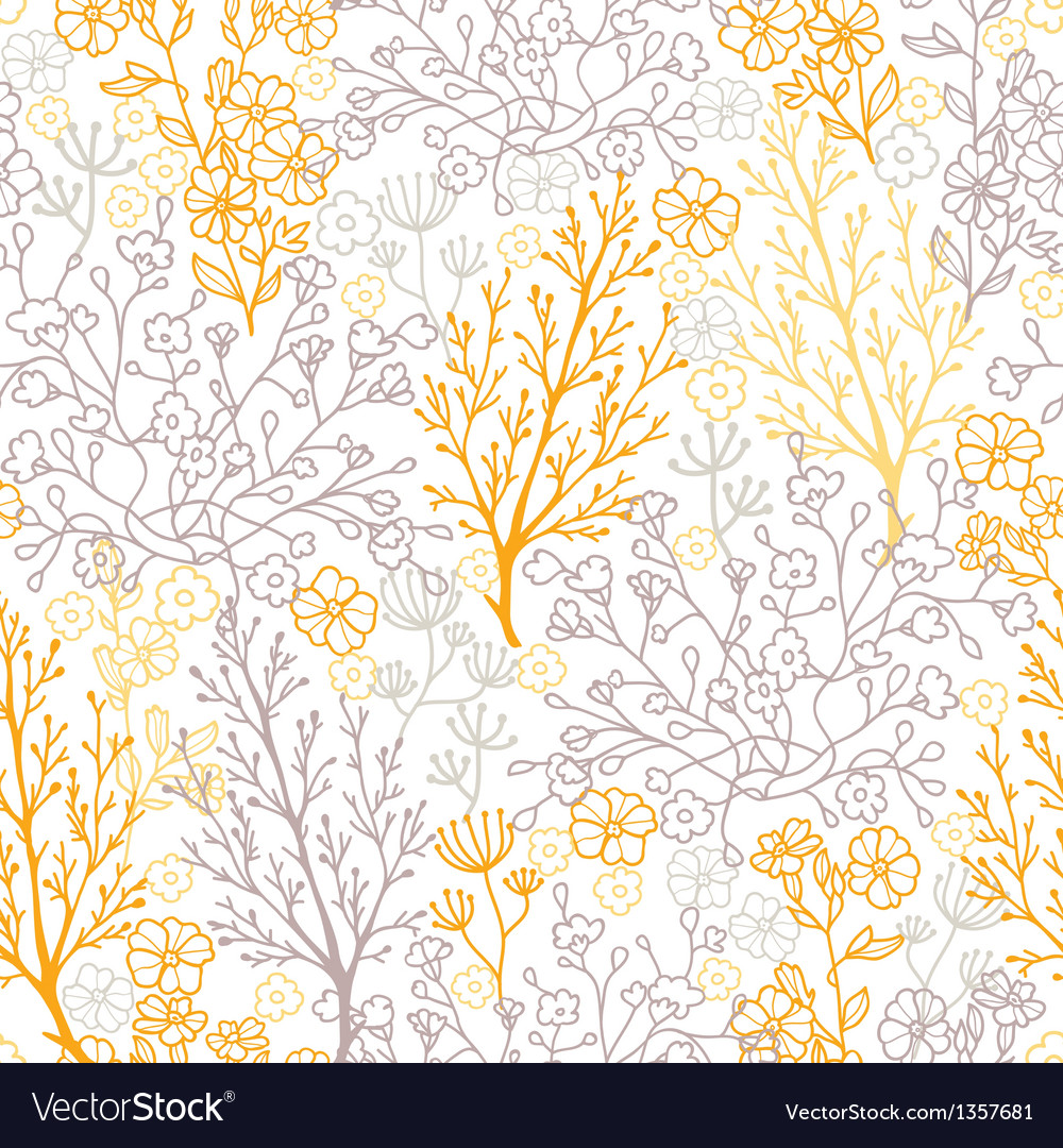 Magical floral seamless pattern background vector | Price: 1 Credit (USD $1)