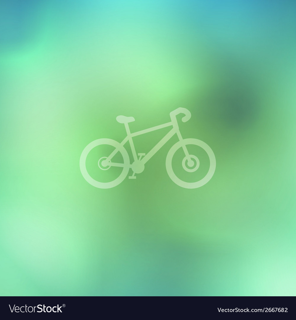 Bicycle on abstract background vector | Price: 1 Credit (USD $1)