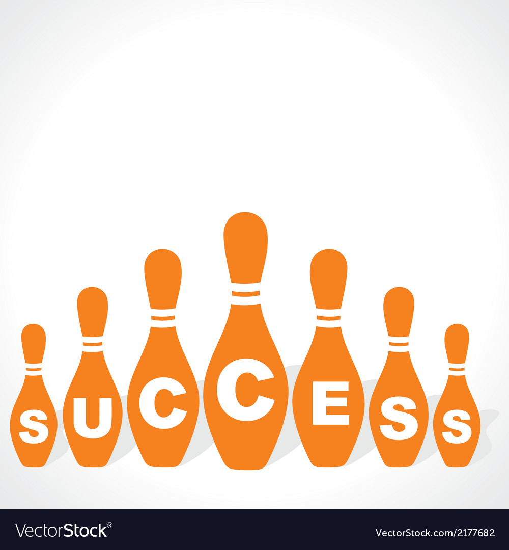 Bowling pins make success word vector | Price: 1 Credit (USD $1)