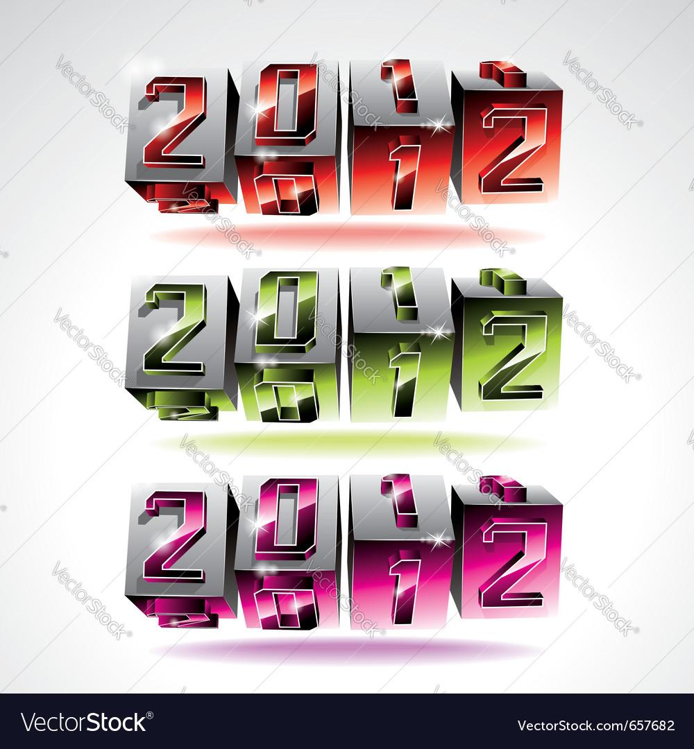 Calendar design 2012 vector | Price: 3 Credit (USD $3)