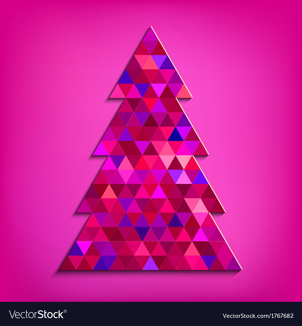 Christmas tree pink vector | Price: 1 Credit (USD $1)