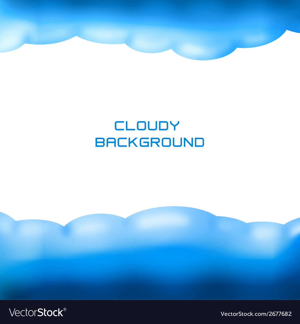 Cloudy background vector | Price: 1 Credit (USD $1)