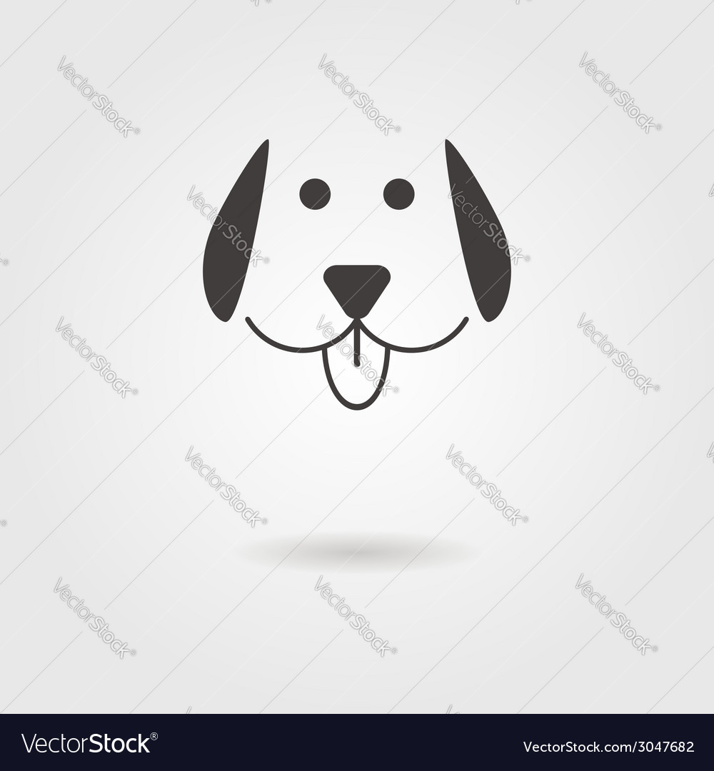 Dog icon with shadow vector | Price: 1 Credit (USD $1)