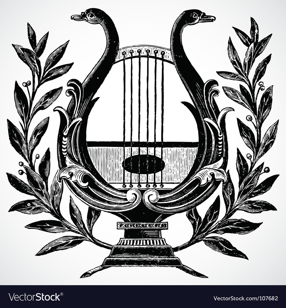 Harp ornament vector | Price: 1 Credit (USD $1)
