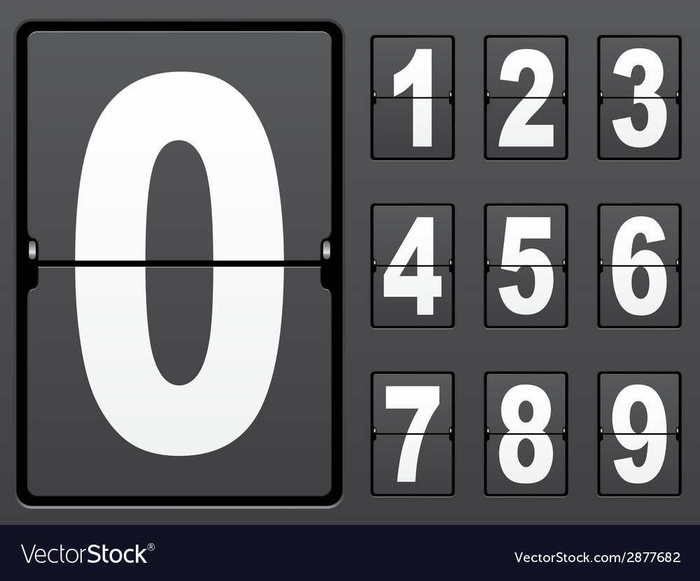 Number of mechanical panel vector | Price: 1 Credit (USD $1)
