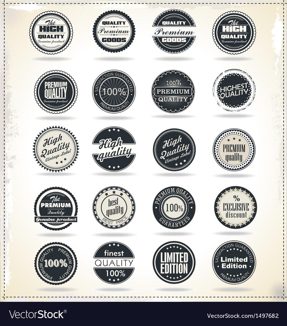 Set of retro vintage labels vector | Price: 3 Credit (USD $3)