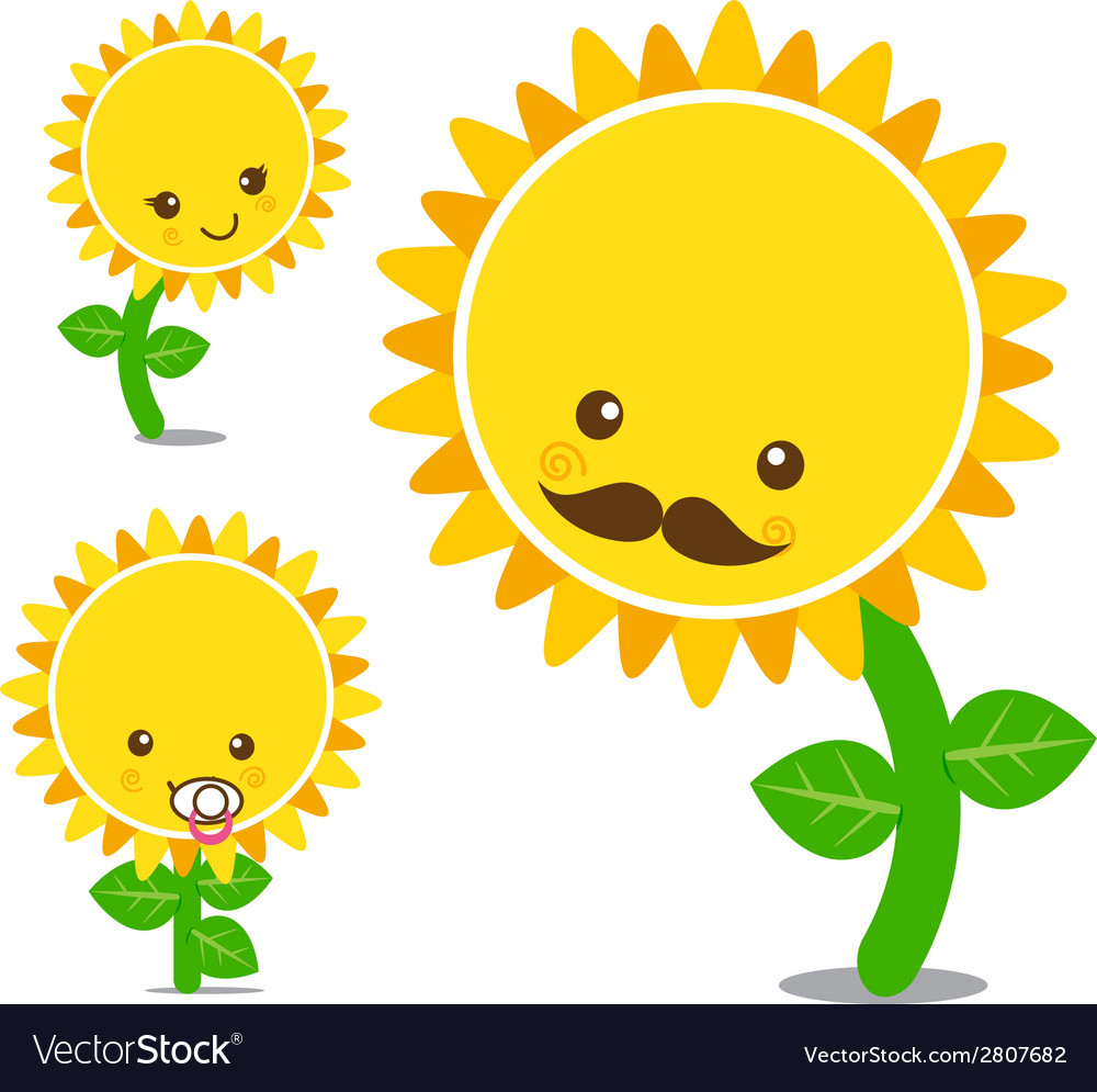 Sunflower 004 vector | Price: 1 Credit (USD $1)