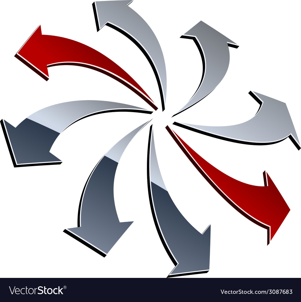3d shiny arrows vector | Price: 1 Credit (USD $1)