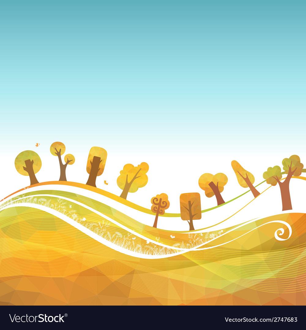 Autumn geometric background vector | Price: 1 Credit (USD $1)