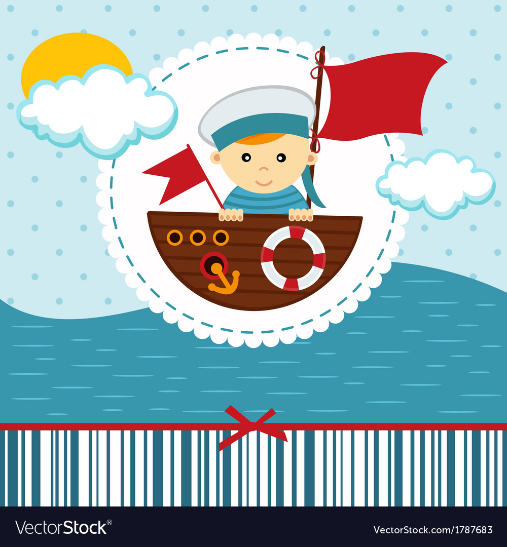 Baby boy sailor vector | Price: 1 Credit (USD $1)