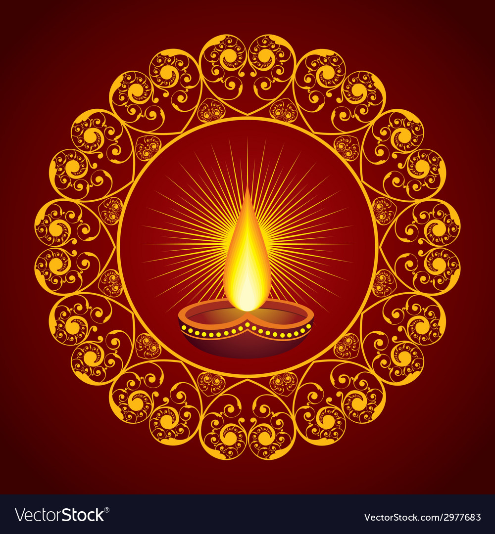 Creative diwali greeting vector | Price: 1 Credit (USD $1)
