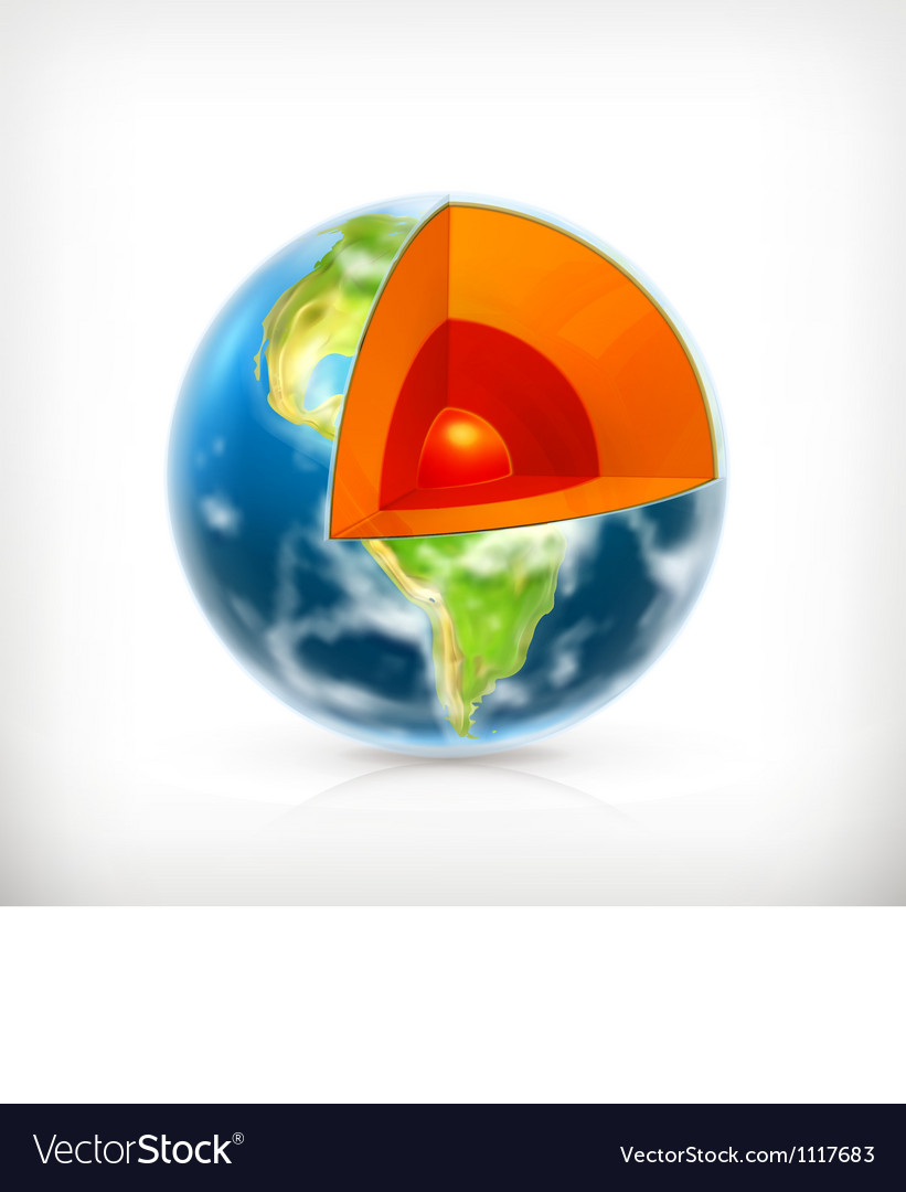 Earth structure vector | Price: 3 Credit (USD $3)