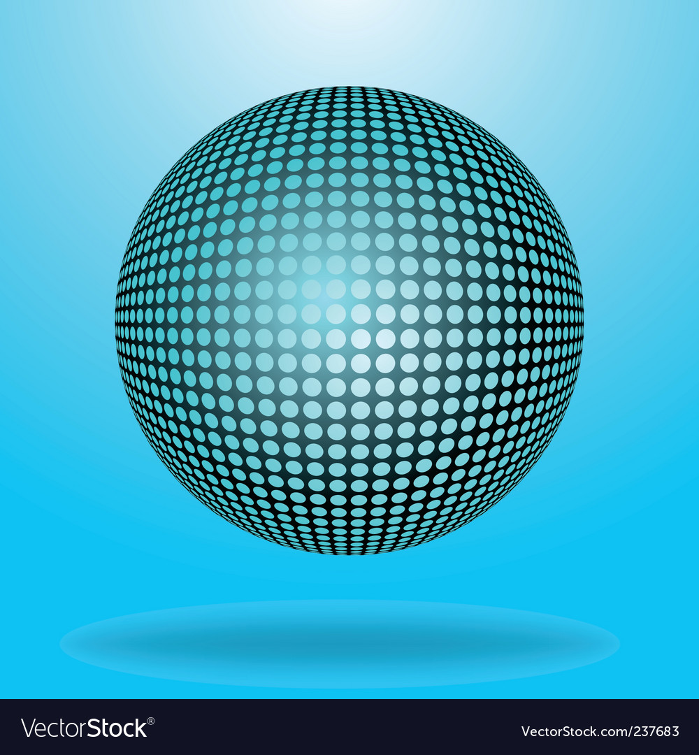 Halftone sphere vector | Price: 1 Credit (USD $1)