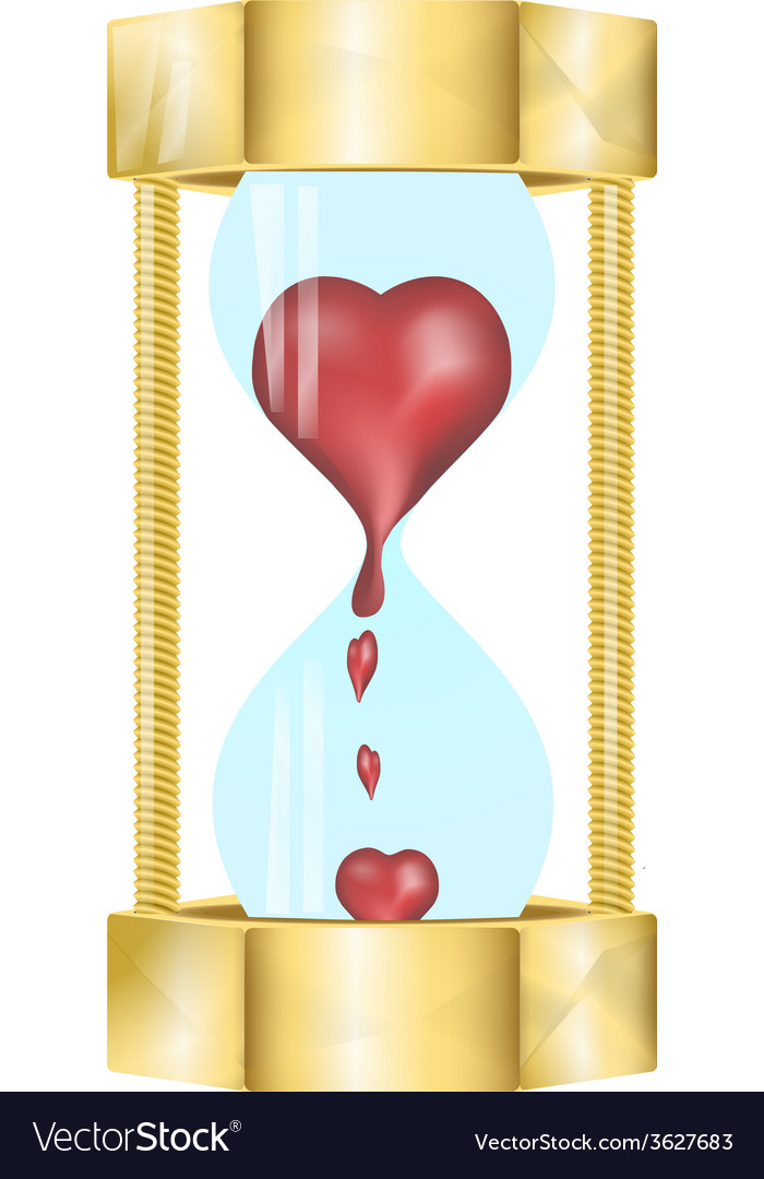 Heart in the hourglass vector | Price: 1 Credit (USD $1)