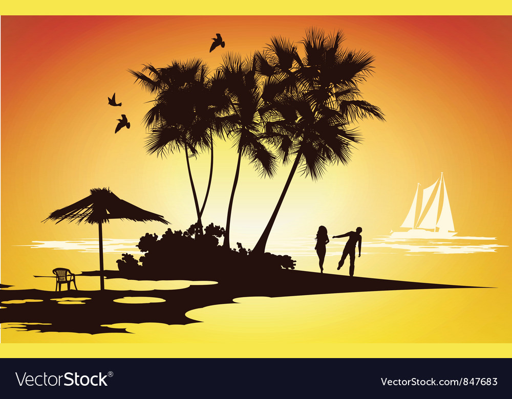 Honeymoon relaxing vector | Price: 1 Credit (USD $1)