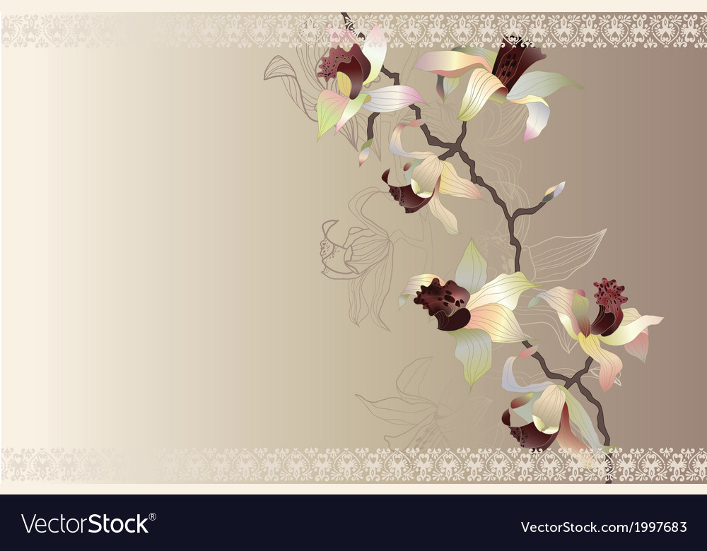 Orchid wedding cart vector | Price: 1 Credit (USD $1)