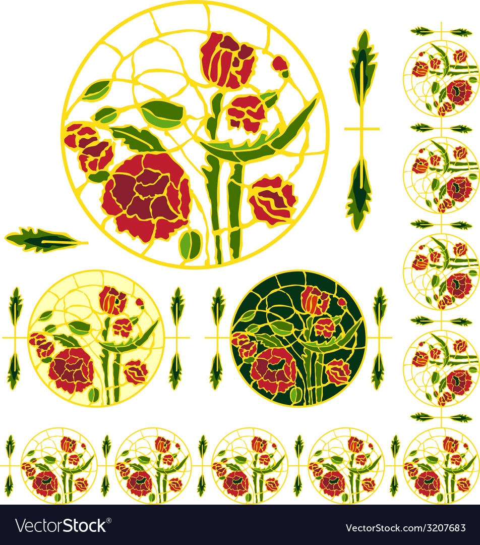 Ornamentpoppies vector | Price: 1 Credit (USD $1)