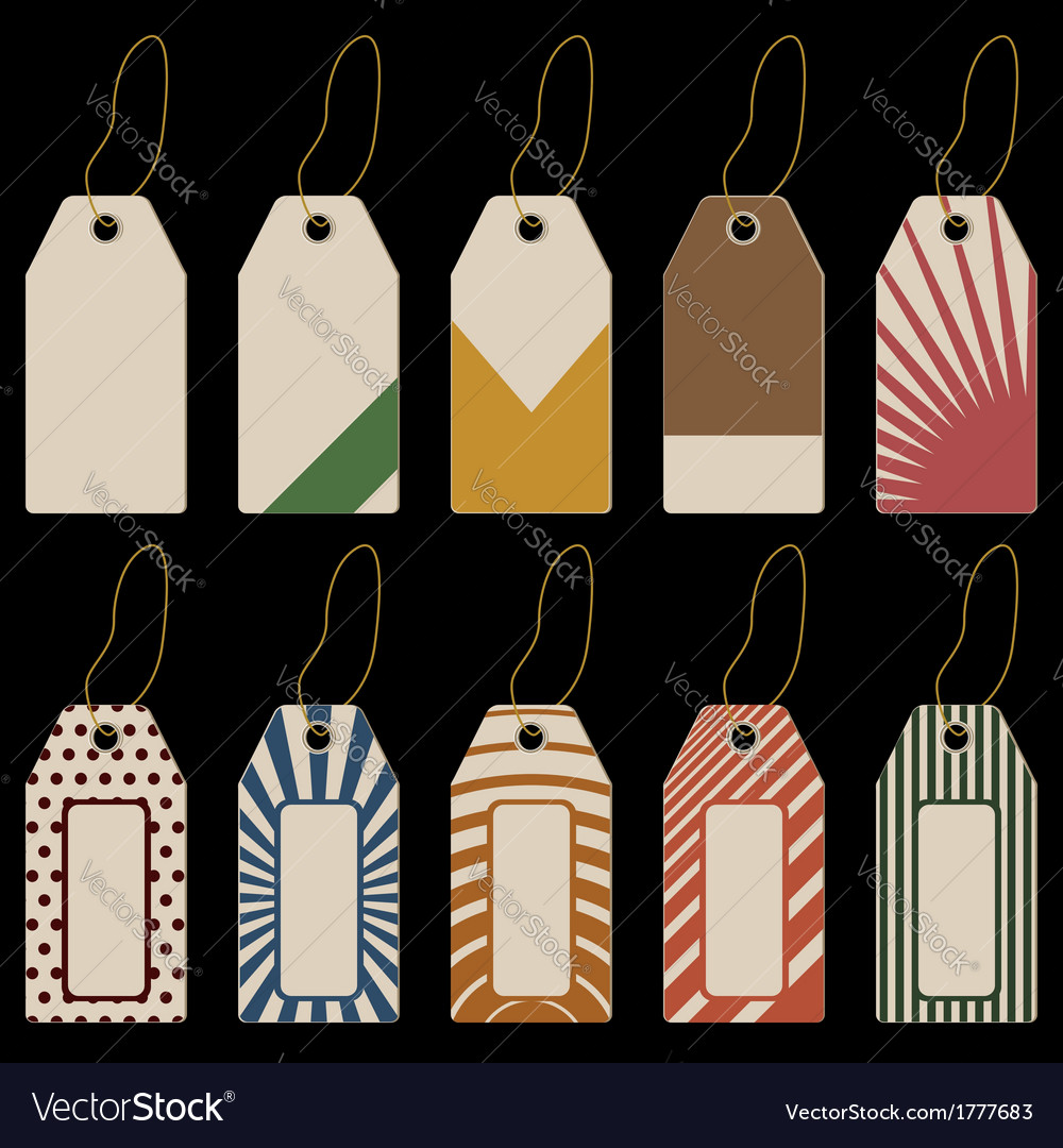 Set of tags with geometrical pattern vector | Price: 1 Credit (USD $1)