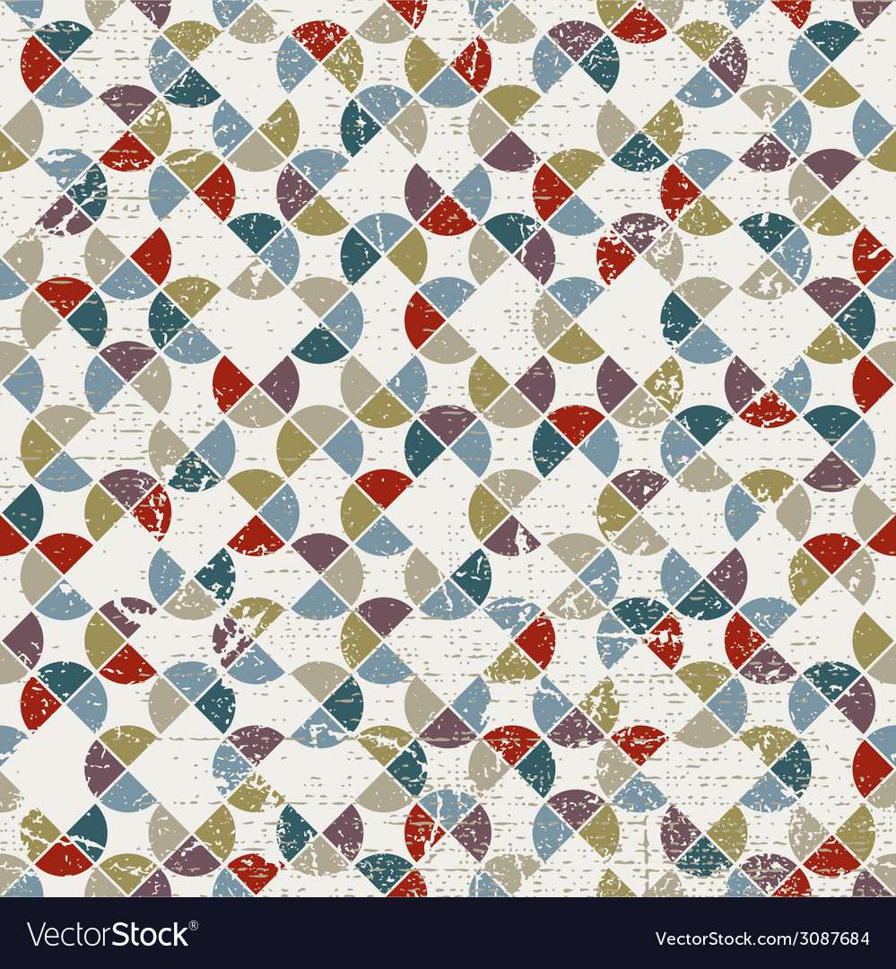 Abstract mosaic seamless background geometric vector | Price: 1 Credit (USD $1)
